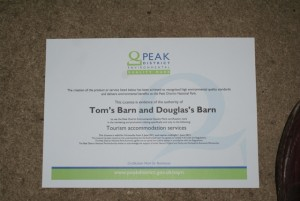Environmental Quality Mark for Tom's Barn and Douglas's Barn