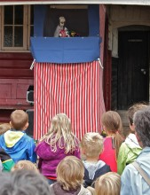 The children loved the Punch and Judy