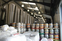 One small section showing the casks piled up