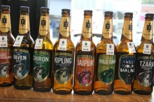 Sine of the bottled beers brewed in Bakewell by Thornbridge