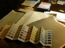 Choosing the perfect colour for our romantic cottages for two in the Peak District