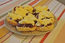 Clotted cream tea for our guests! IMG_6978