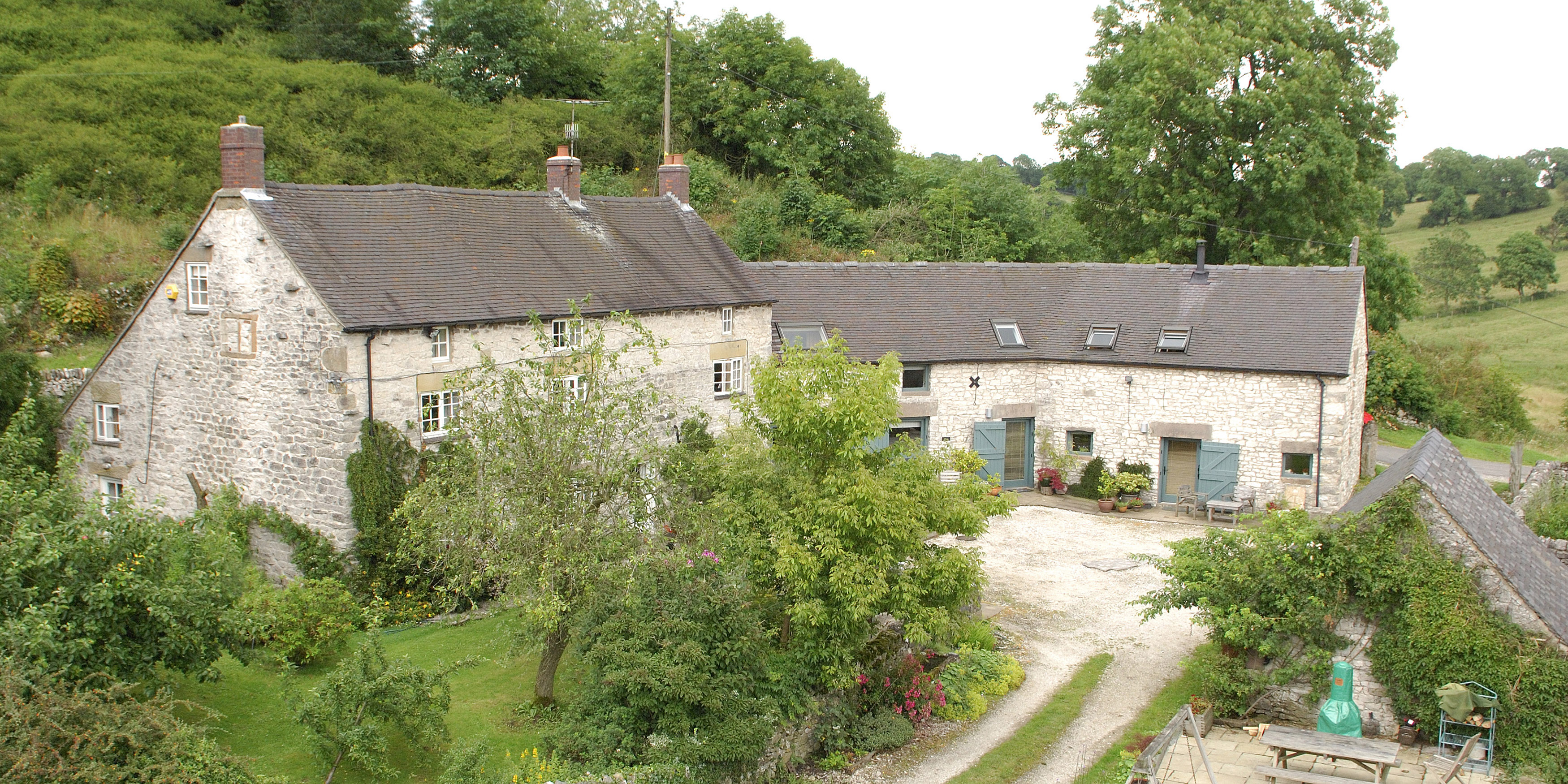 swallows set nestled peak working the left cottages right farmhouse in farm barn on accommodation cottage a district and