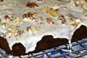 A delicious variation on treacle sponge, with ginger and black treacle